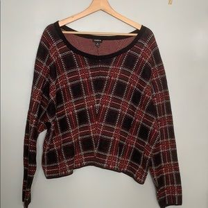 Torrid Cropped Plaid Sweater 2X
